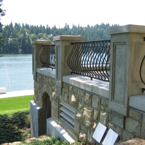 Curved Outdoor Railing
