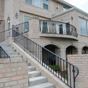 Custom Outdoor Staircase Railing