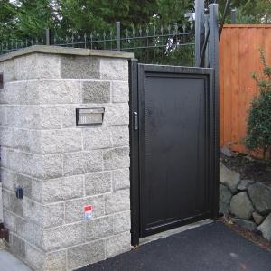 Solid Modern walkway gate