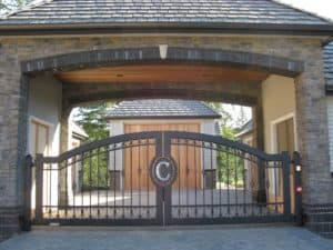 Ford Residential Driveway Gate Mono Gram