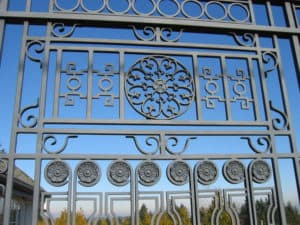 Large Gate Ornamental Custom Black sim thing