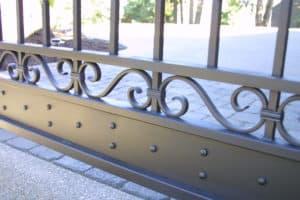 Iron Mountain Scrolls Brackets Studs Driveway Gate Design