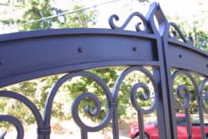 Iron Mountain Scrolls Top Piece Gate Design
