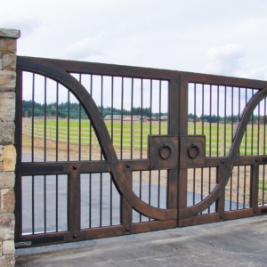 wildturkeycustomgateshapedbars scaled 1 Stratford gate systems